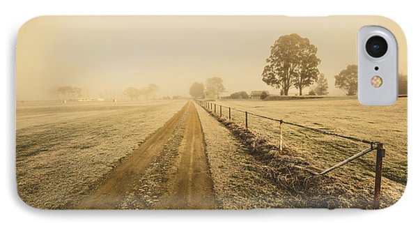 Frosted Road In Outback Australia IPhone Case
