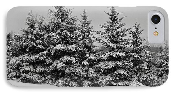 IPhone Case featuring the photograph Frosted Trees by Kathleen Sartoris