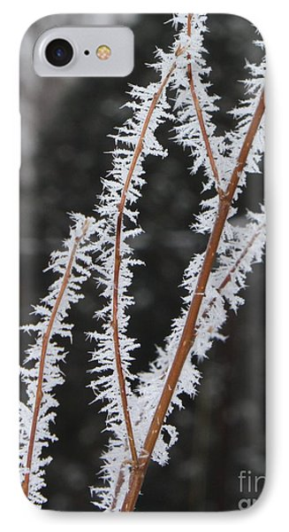 Frosty Branches Phone Case by Carol Groenen