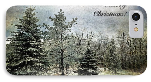 Frosty Christmas Card Phone Case by Lois Bryan