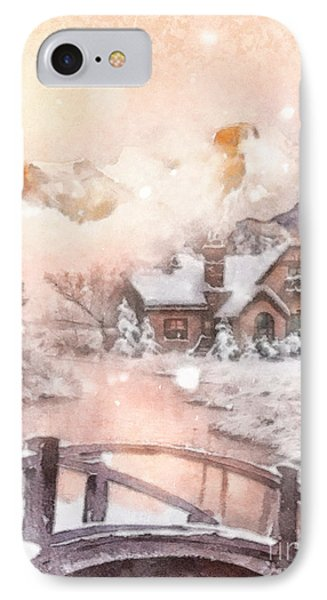 IPhone Case featuring the painting Frosty Creek by Mo T