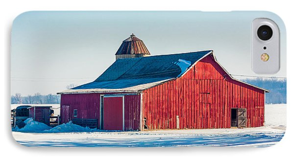Frosty Farm IPhone Case by Todd Klassy