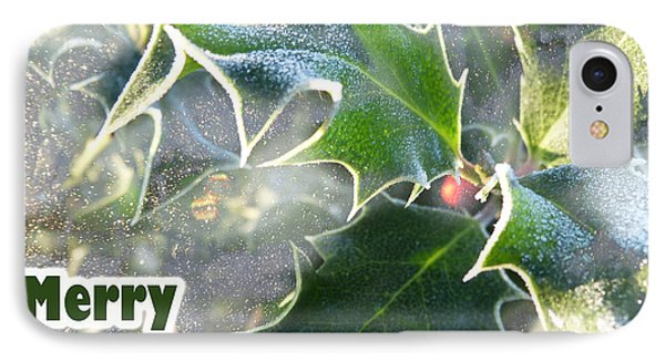 IPhone Case featuring the photograph Frosty Holly by LemonArt Photography