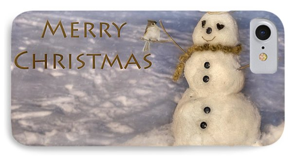 Frosty Merry Christmas IPhone Case by Lori Deiter
