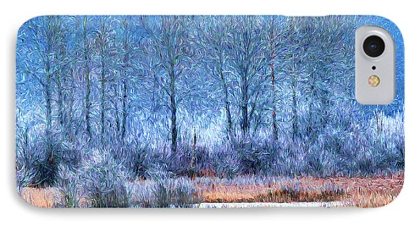 IPhone Case featuring the digital art Frosty Morning At The Marsh Photo Art by Sharon Talson