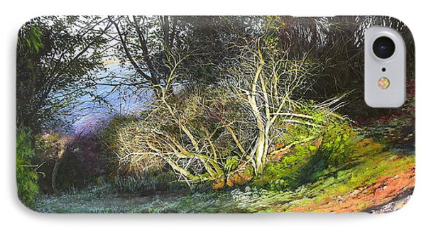 IPhone Case featuring the painting Frosty Morning Near Nant Clwyd by Harry Robertson