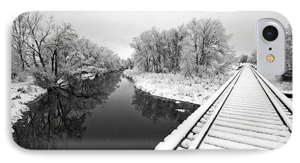 Frosty Morning On The Poudre IPhone Case