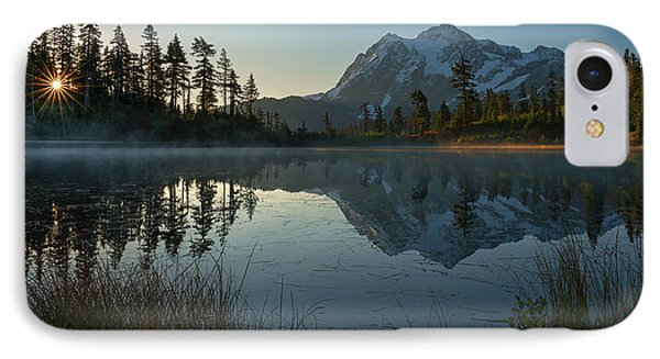 IPhone Case featuring the photograph Frosty Picture Lake by Dan Mihai