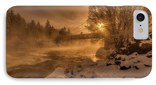 Frosty Riverside IPhone Case by Mark Kiver