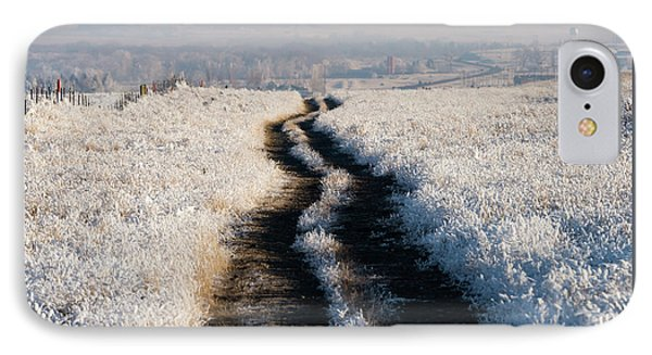Frosty Road To Town IPhone Case