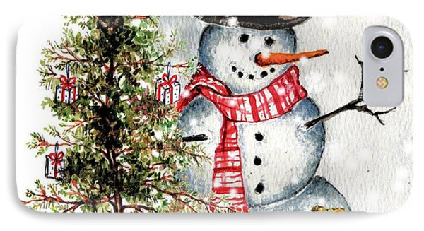Frosty The Snowman Greeting Card IPhone Case by Heidi Kriel