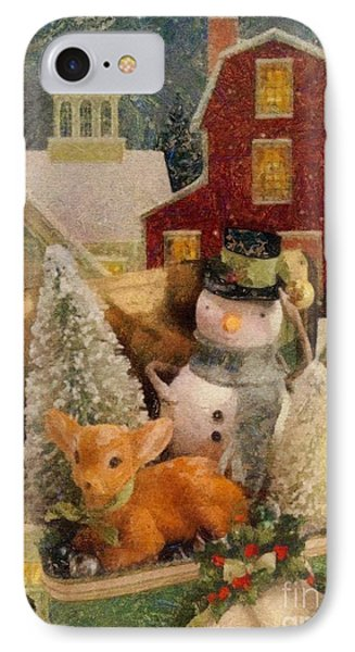 IPhone Case featuring the painting Frosty The Snowman by Mo T