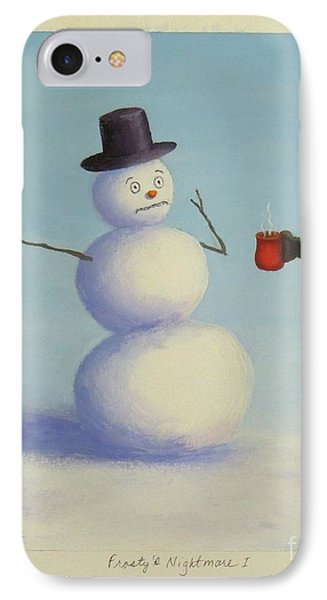 Frosty's Nightmare I IPhone Case by Phyllis Andrews