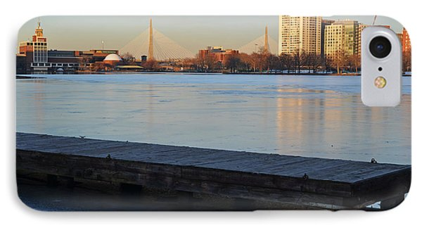 Frozen Dock On The Charles River IPhone Case by Toby McGuire