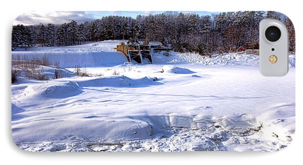 Frozen Androscoggin River IPhone Case by Olivier Le Queinec
