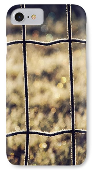 Frozen Fence IPhone Case by Wim Lanclus