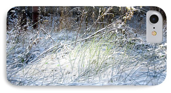 Frozen Grass Phone Case by Svetlana Sewell