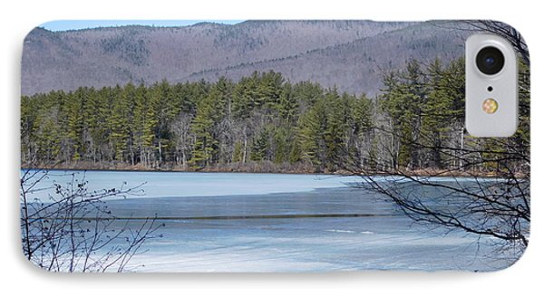 Frozen Lake Chocorua IPhone Case by Catherine Gagne