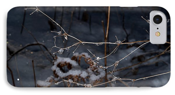 IPhone Case featuring the photograph Frozen Rain by Annette Berglund