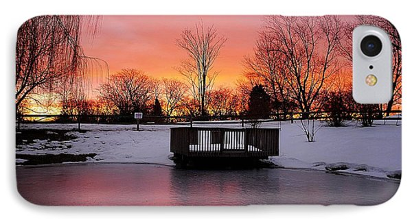 Frozen Sunrise Phone Case by Frozen in Time Fine Art Photography