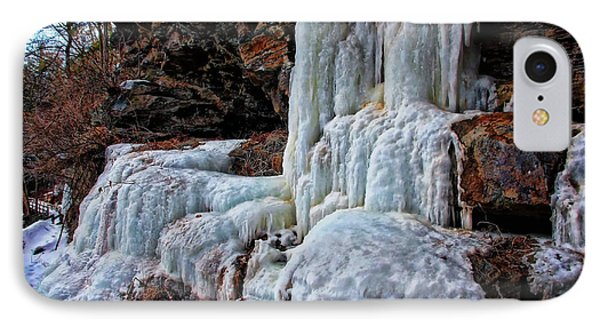 Frozen Waterfall IPhone Case by Suzanne Stout