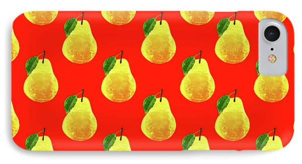 Fruit 03_pear_pattern IPhone 7 Case by Bobbi Freelance