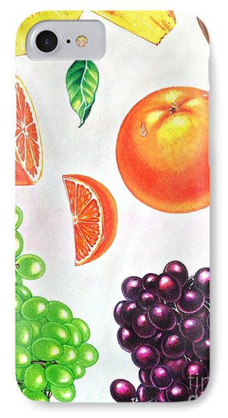 Fruit Illustrations - Markers And Pencil IPhone Case