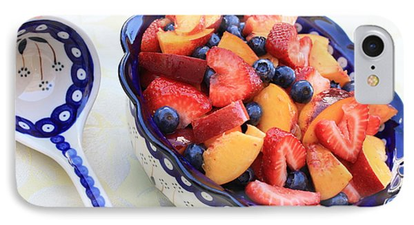 Fruit Salad With Spoon Phone Case by Carol Groenen