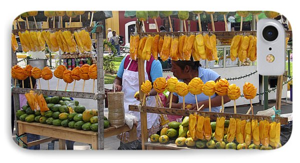 Fruit Stand Antigua  Guatemala IPhone 7 Case by Kurt Van Wagner