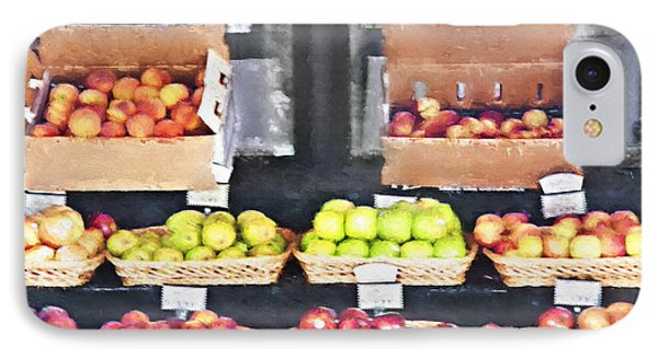 Fruit Stand - Carmel California IPhone Case by Steve Ohlsen