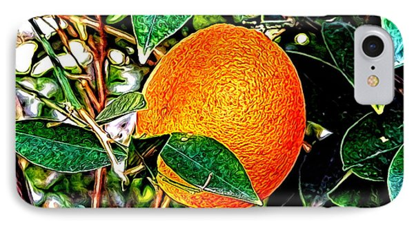 IPhone Case featuring the photograph Fruit - The Orange by Glenn McCarthy Art