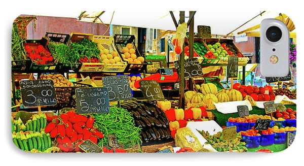 IPhone Case featuring the photograph Fruttolo Italian Vegetable Stand by Harry Spitz