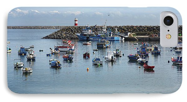 Fishing Boats In Sines Harbot, Portugal IPhone Case by Carlos Caetano