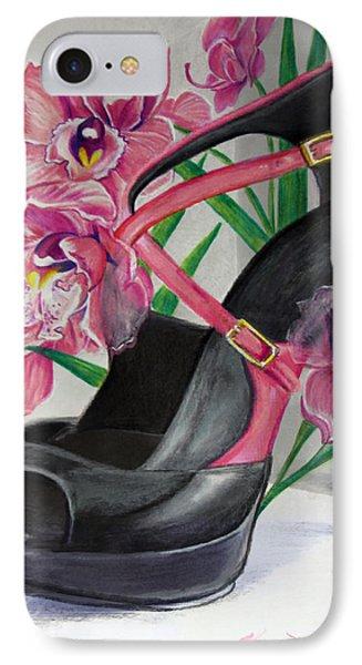 Fuchsia Orchid Colour Block Phone Case by Karon Melillo DeVega