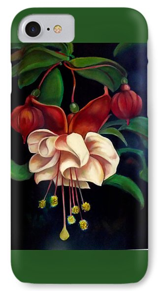 IPhone Case featuring the painting Fuchsias by Irena Mohr