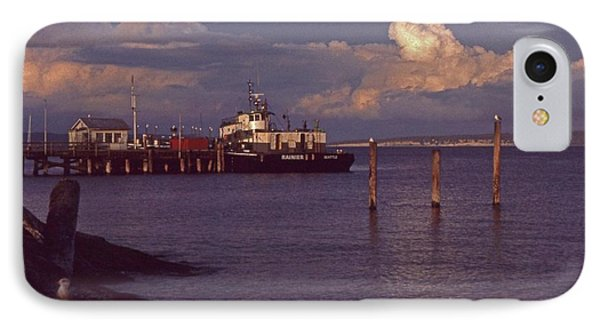 Fuel Dock, Port Townsend IPhone Case by Laurie Stewart