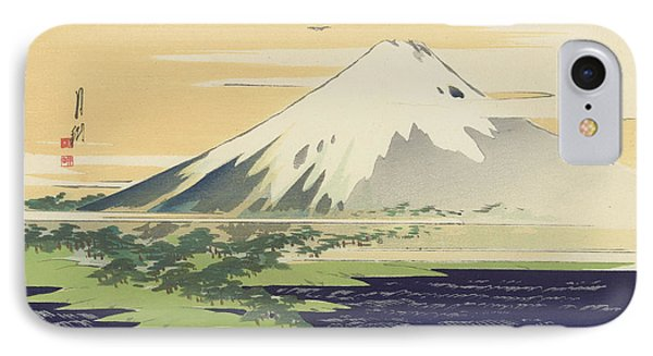 Fuji From The Beach At Mio IPhone Case by Ogata Gekko