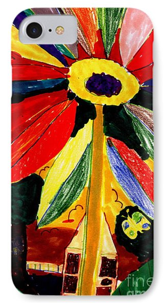 IPhone Case featuring the painting Full Bloom - My Home 2 by Angela L Walker