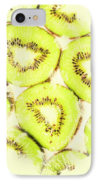 Full Frame Shot Of Fresh Kiwi Slices With Seeds IPhone Case by Jorgo Photography - Wall Art Gallery