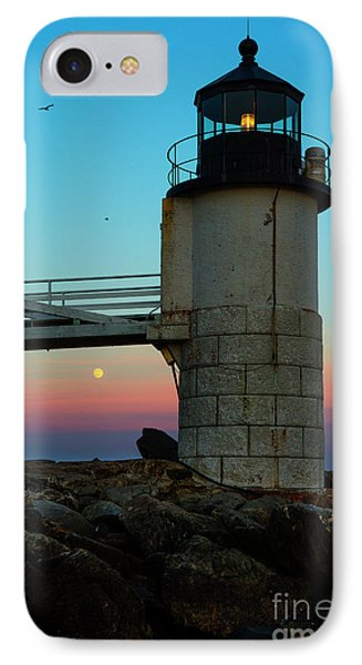 Full Moon At Marshall Point Lighthouse IPhone Case