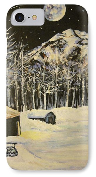 Full Moon At The Sundance Nordic Center IPhone Case