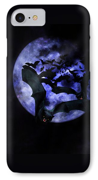 Full Moon Bats IPhone Case by Gravityx9  Designs