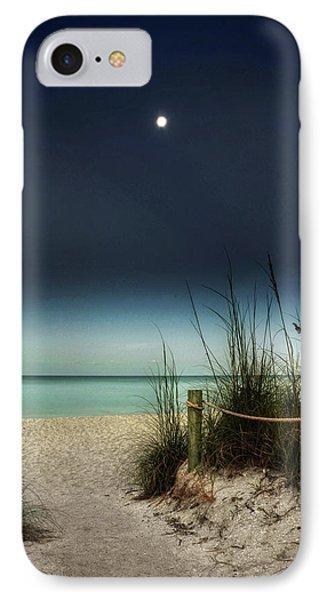 Full Moon Beach IPhone Case by Greg Mimbs