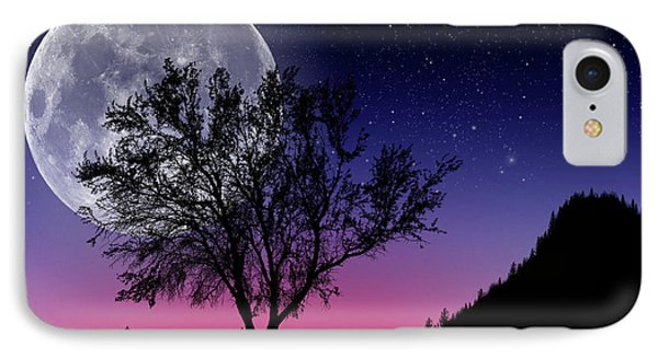 Full Moon IPhone Case by Donald Schwartz