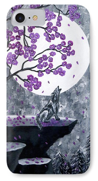 IPhone Case featuring the painting Full Moon Magic by Teresa Wing