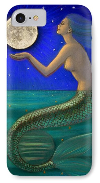 Full Moon Mermaid IPhone Case by Sue Halstenberg