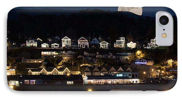 Full Moon Over Capitola IPhone Case