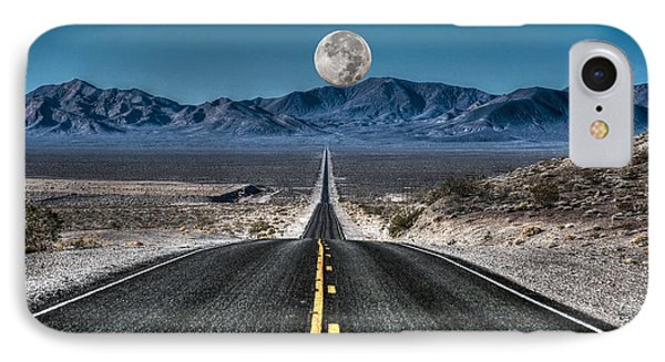 Full Moon Over Death Valley IPhone Case by Donna Kennedy