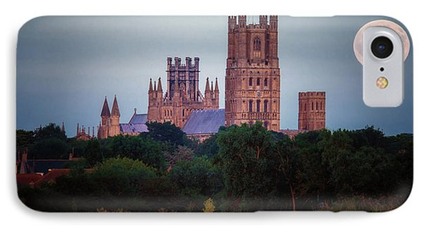 Full Moon Over Ely Cathedral IPhone Case