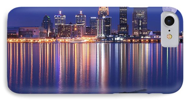 Full Moon Over Louisville IPhone Case by Frozen in Time Fine Art Photography
